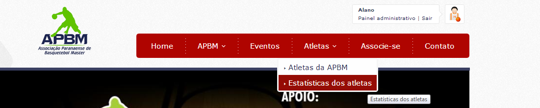 Estatísticas do Atleta